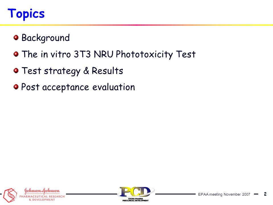EPAA meeting November 2007 13 Back-up slides