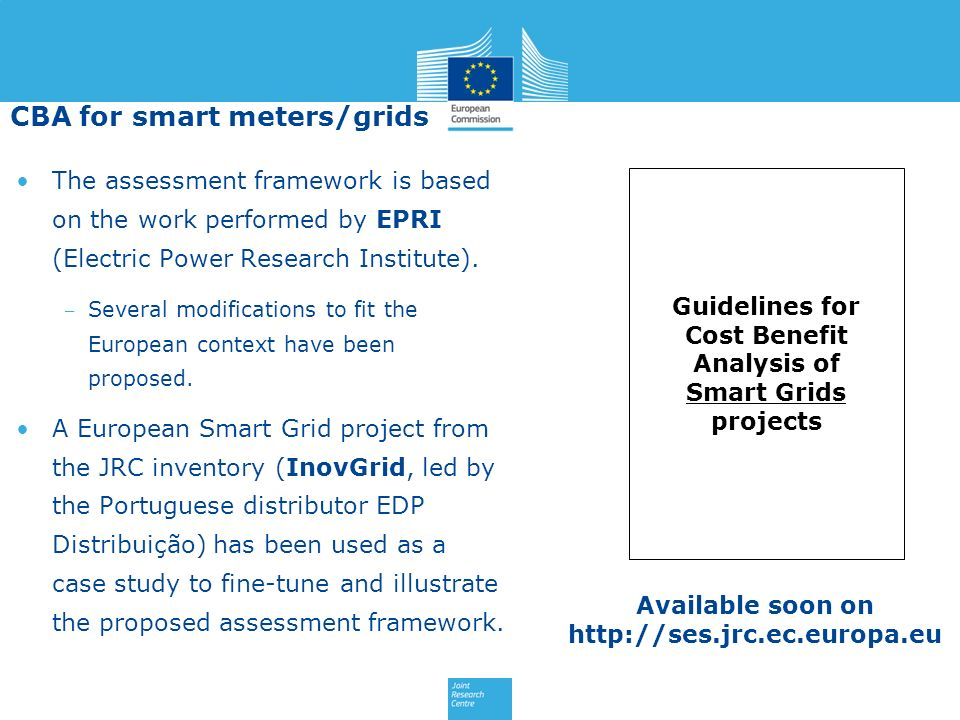 The assessment framework is based on the work performed by EPRI (Electric Power Research Institute). Several modifications to fit the European context