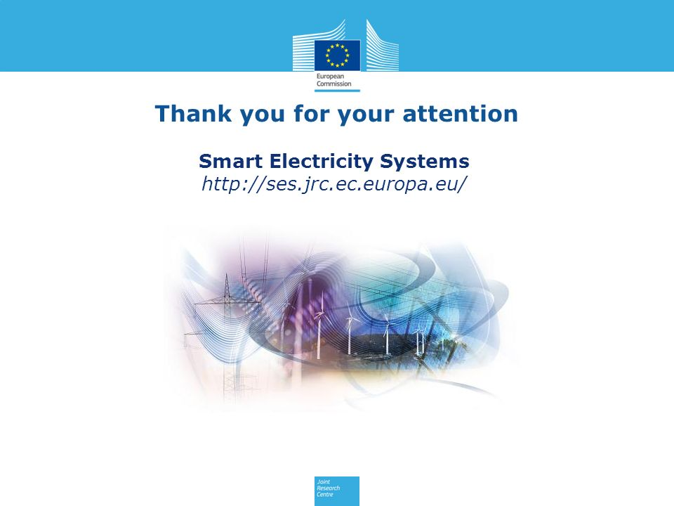 Smart Electricity Systems http://ses.jrc.ec.europa.eu/ Thank you for your attention