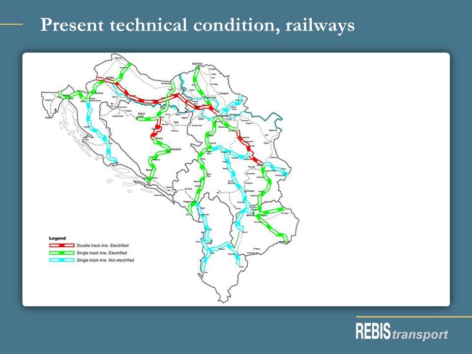 Present technical condition, railways