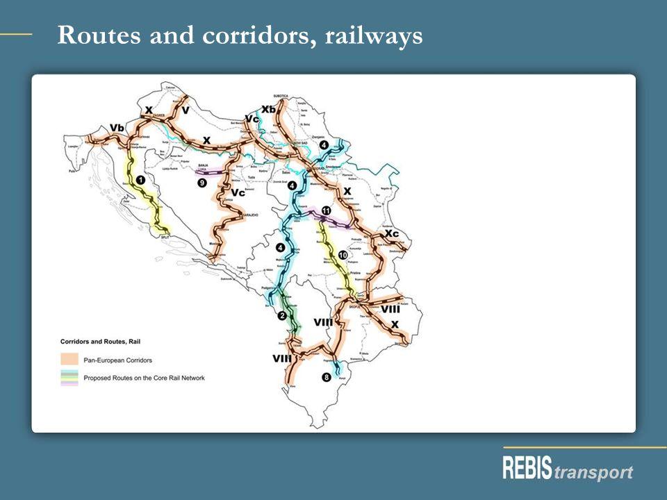 Routes and corridors, railways