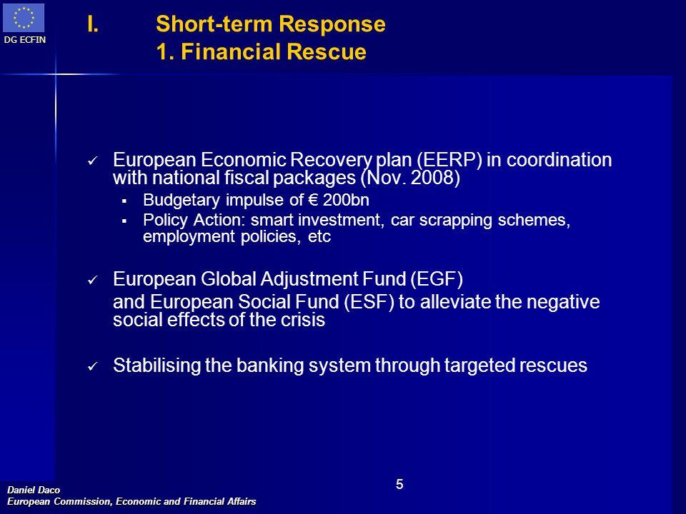 DG ECFIN Daniel Daco European Commission, Economic and Financial Affairs 5 I.