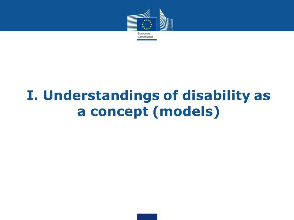 I. Understandings of disability as a concept (models)