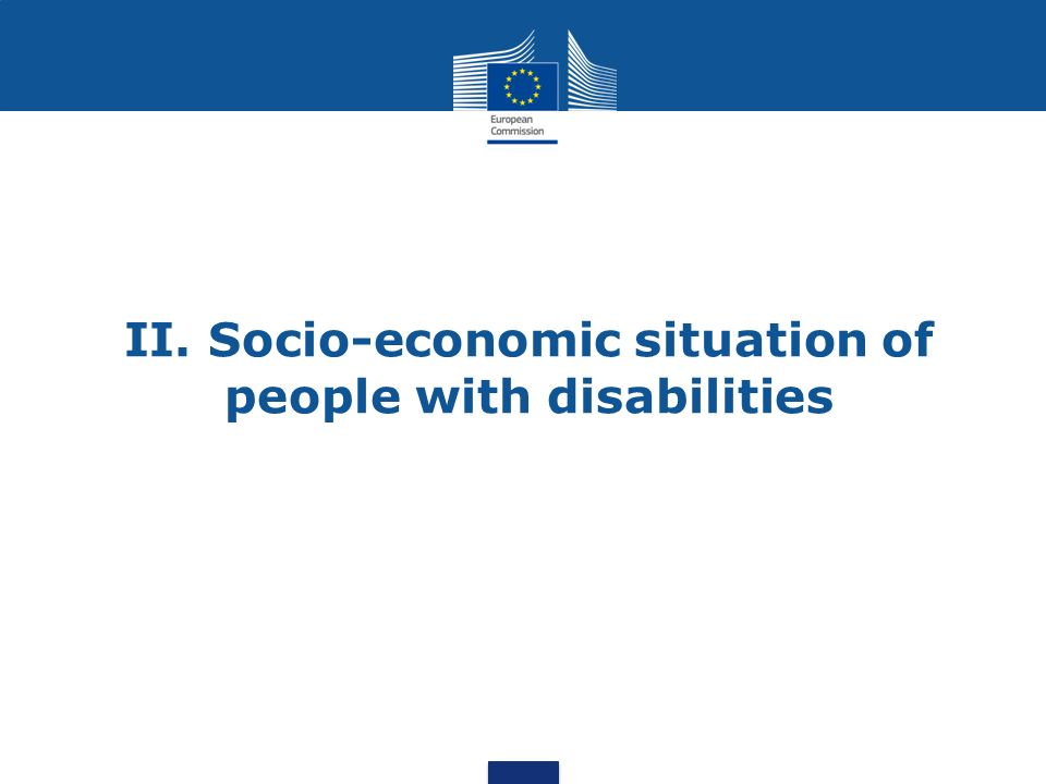 II. Socio-economic situation of people with disabilities
