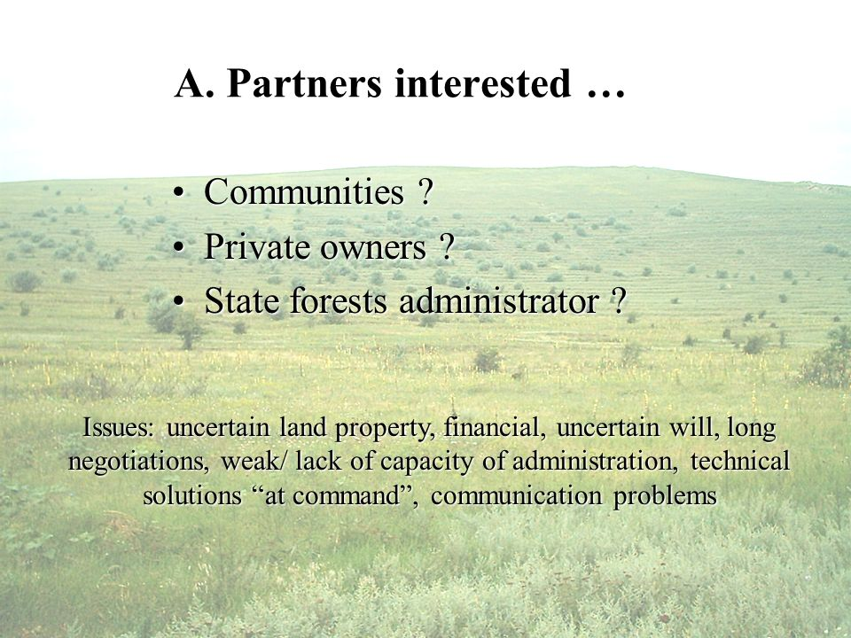 A. Partners interested … Communities Communities .
