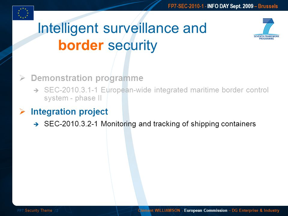 FP7 Security Theme /3 FP7-SEC INFO DAY Sept.