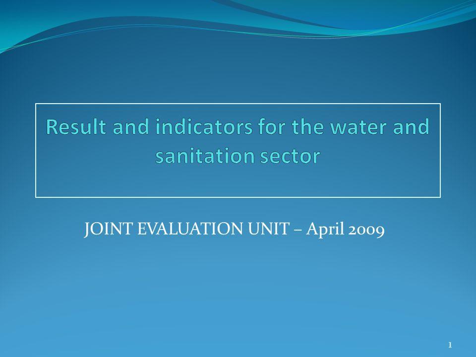 JOINT EVALUATION UNIT – April 2009 1