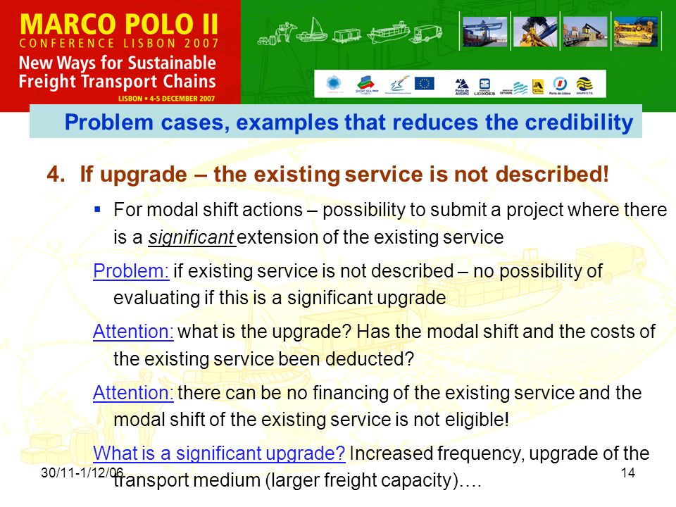 30/11-1/12/0614 4.If upgrade – the existing service is not described.