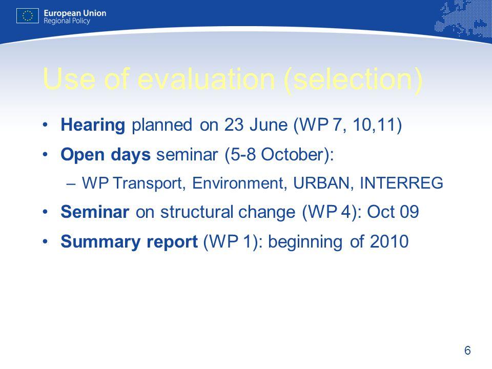 17 Study on the translation of Art.16 Reg.1083/2006 (2007-2013) Cvetina Yocheva Evaluation Unit
