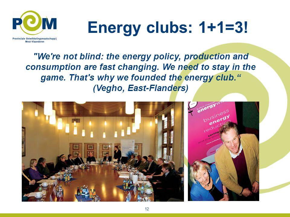 Energy clubs: 1+1=3.
