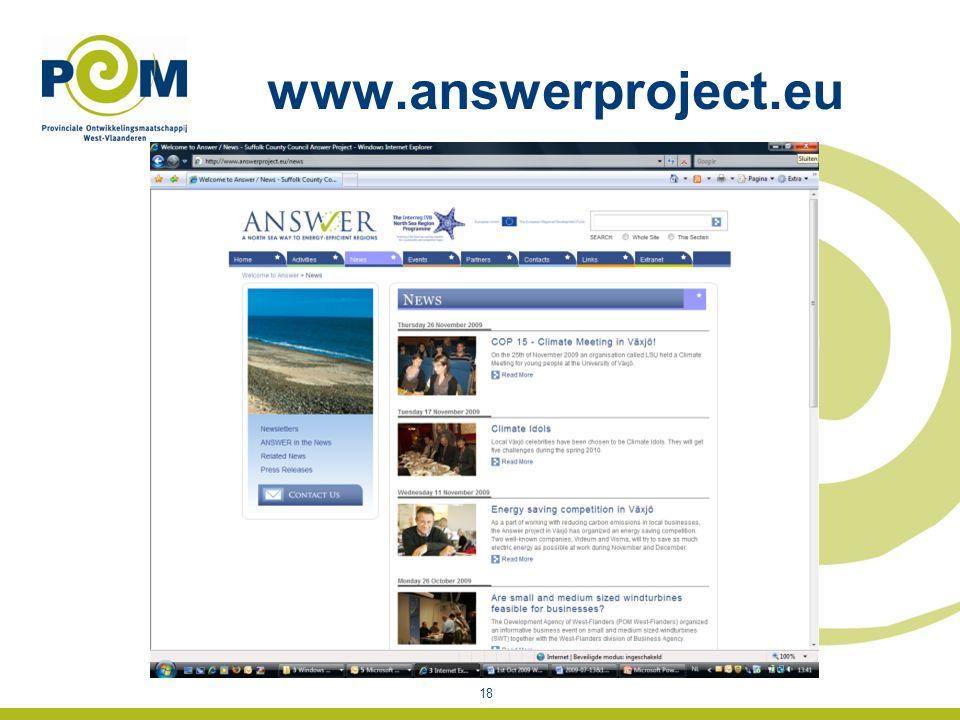 www.answerproject.eu 18