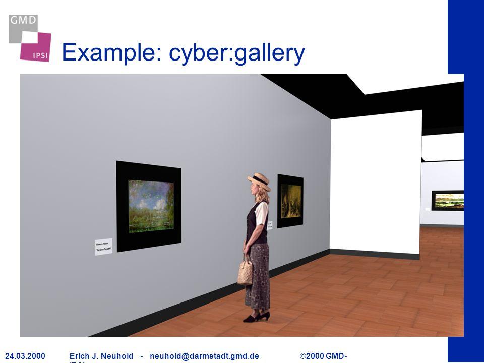 Erich J. Neuhold - neuhold@darmstadt.gmd.de ©2000 GMD- IPSI 24.03.2000 Example: cyber:gallery