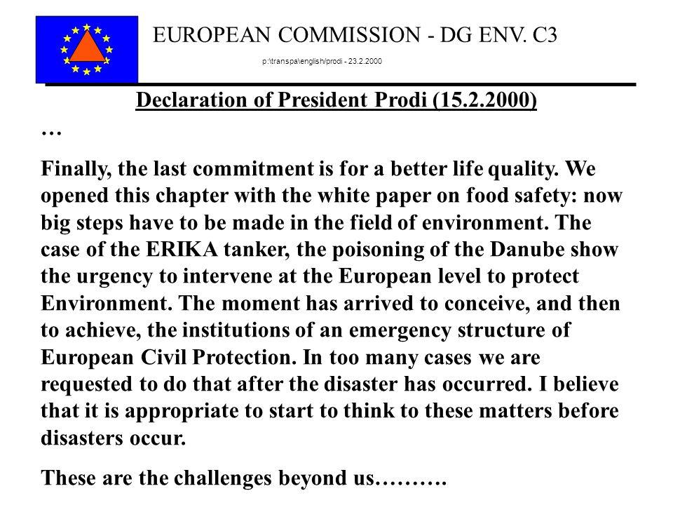 EUROPEAN COMMISSION - DG ENV.