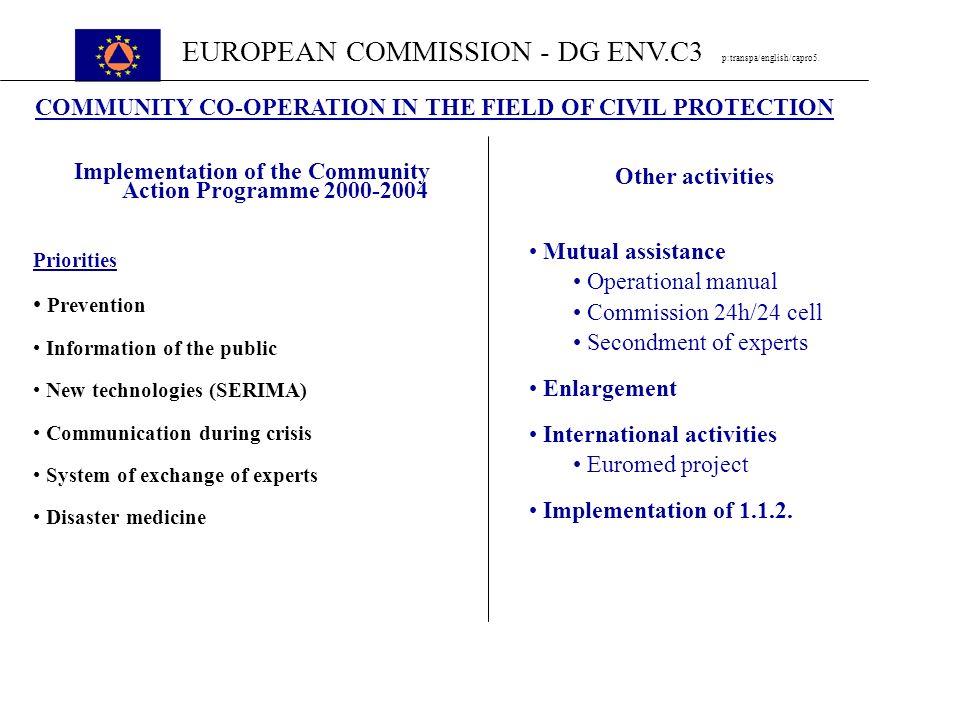 EUROPEAN COMMISSION - DG ENV.C3 p:transpa/english/capro5.