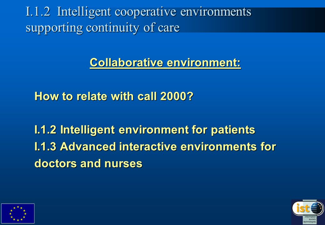 7 Collaborative environment: How to relate with call 2000.