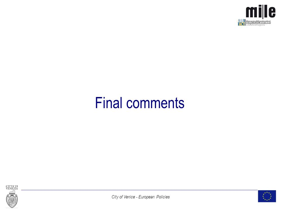 City of Venice - European Policies Final comments