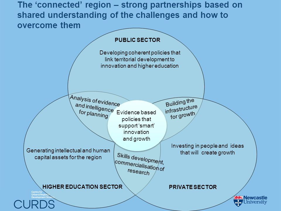 Generating intellectual and human capital assets for the region HIGHER EDUCATION SECTOR Developing coherent policies that link territorial development