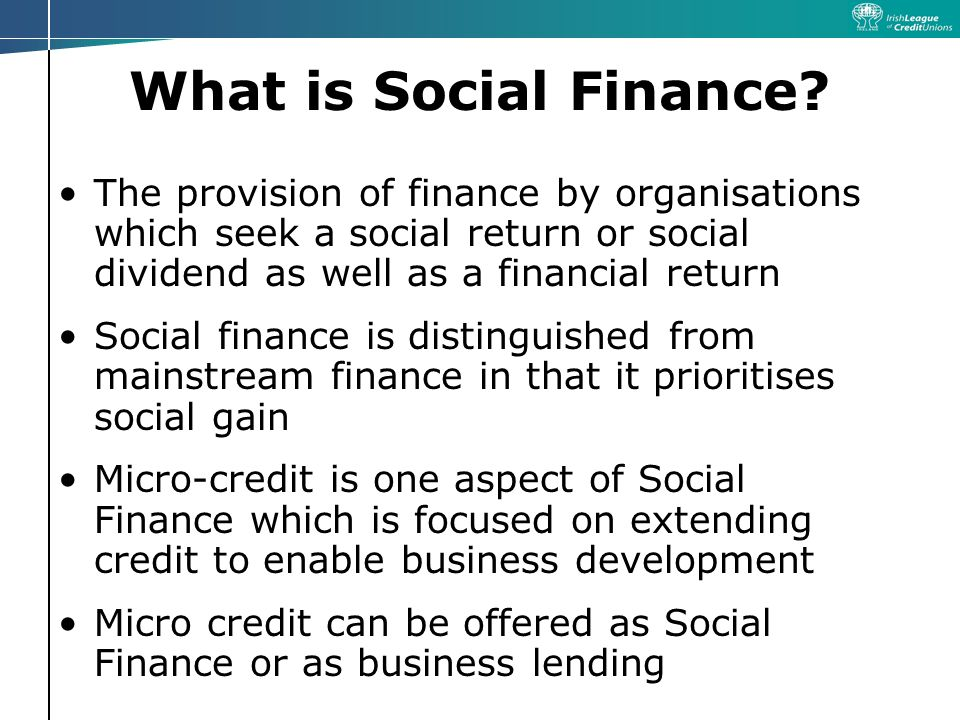 What is Social Finance.