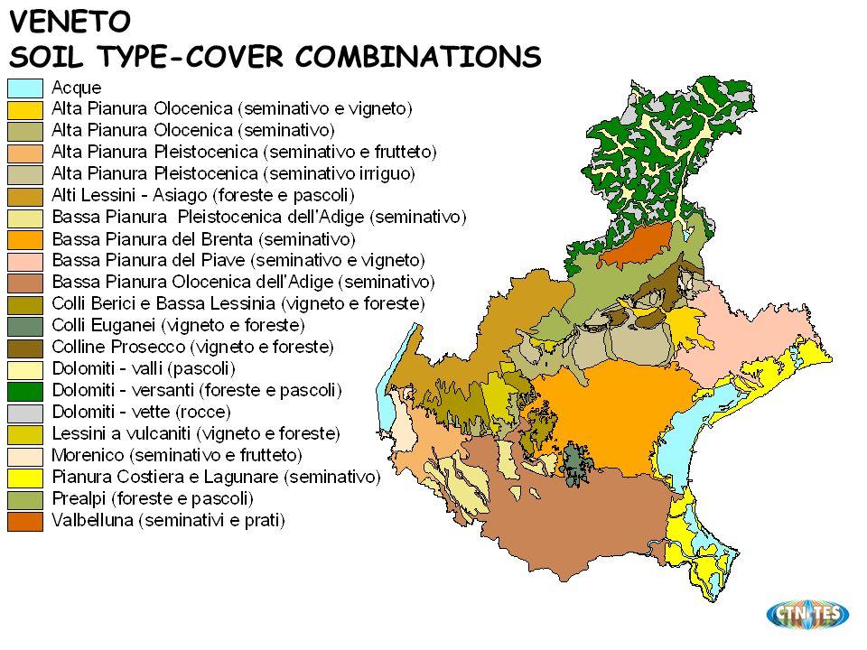 VENETO SOIL TYPE-COVER COMBINATIONS