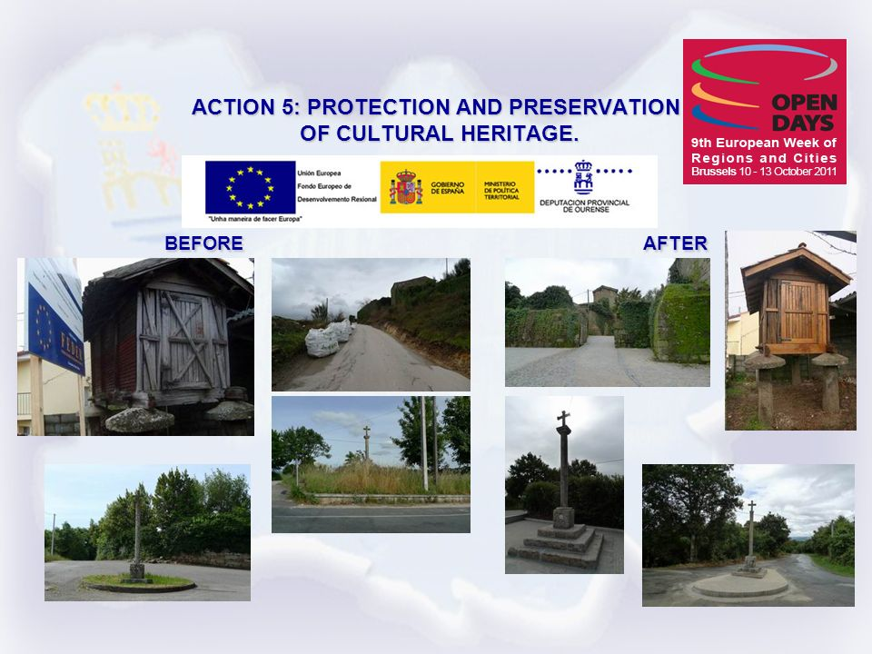 ACTION 5: PROTECTION AND PRESERVATION OF CULTURAL HERITAGE. BEFORE AFTER