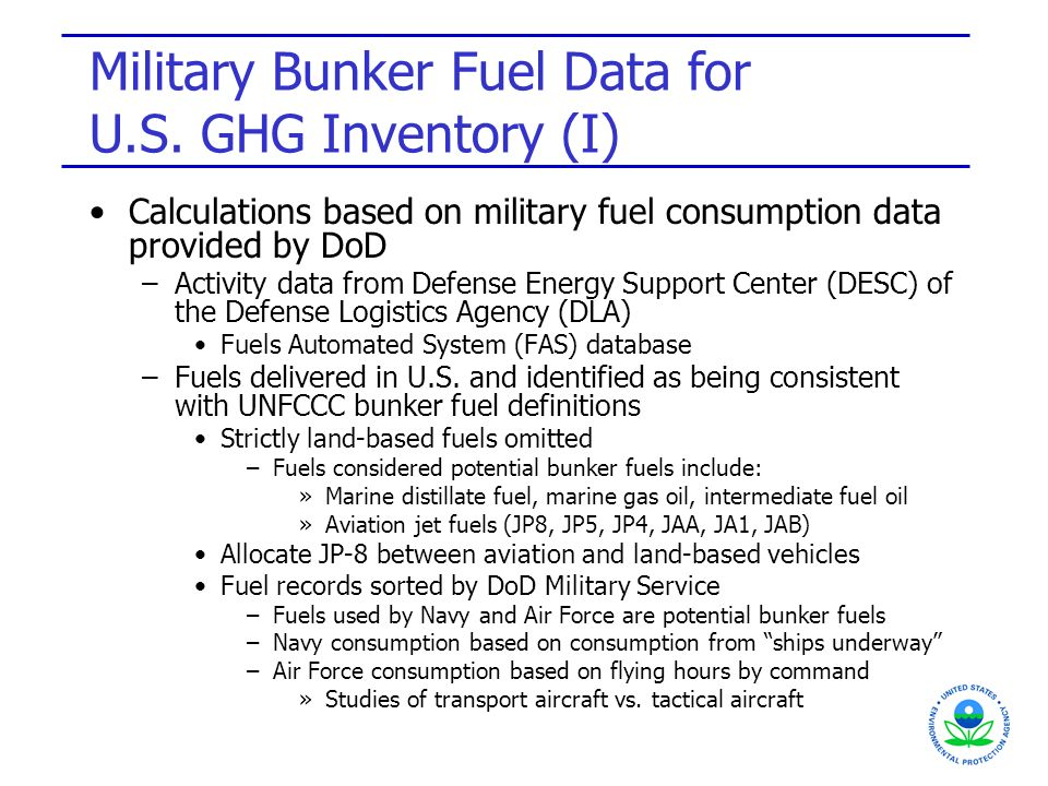 Military Bunker Fuel Data for U.S.