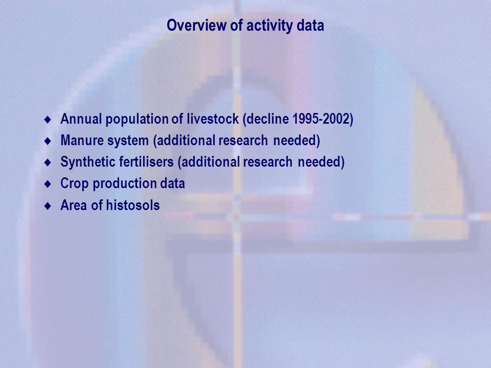 No research projects at the moment in the country that will eventually improve national data Country specific data