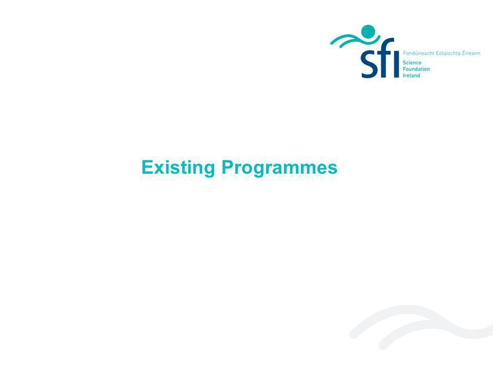 Existing Programmes