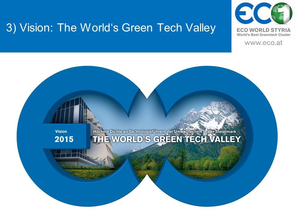 3) Vision: The Worlds Green Tech Valley