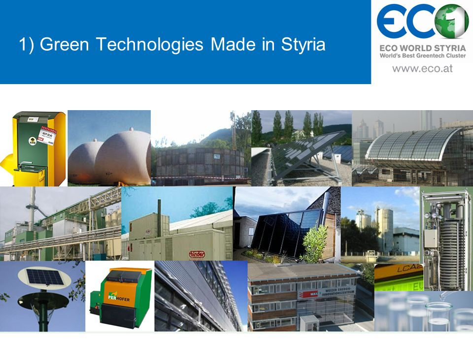 1) Green Technologies Made in Styria