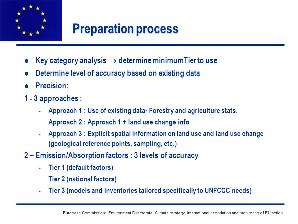 European Commission: Environment Directorate: Climate strategy, international negotiation and monitoring of EU action Preparation process Key category