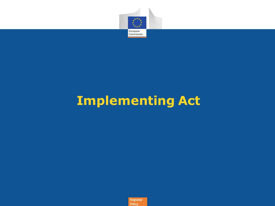 Regional Policy Implementing Act