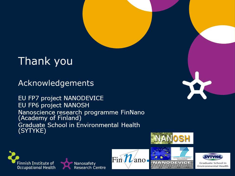 Thank you Acknowledgements EU FP7 project NANODEVICE EU FP6 project NANOSH Nanoscience research programme FinNano (Academy of Finland) Graduate School