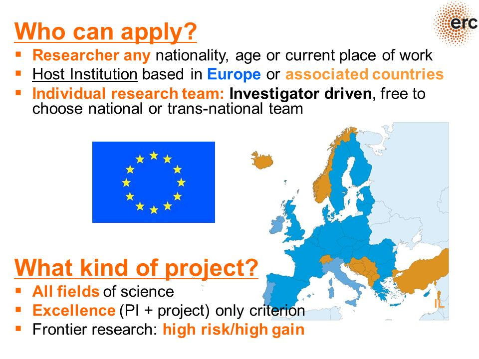Who can apply? Researcher any nationality, age or current place of work Host Institution based in Europe or associated countries Individual research t