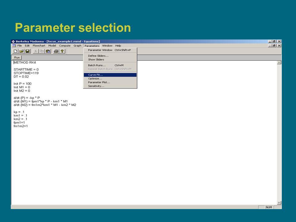 13 Parameter selection