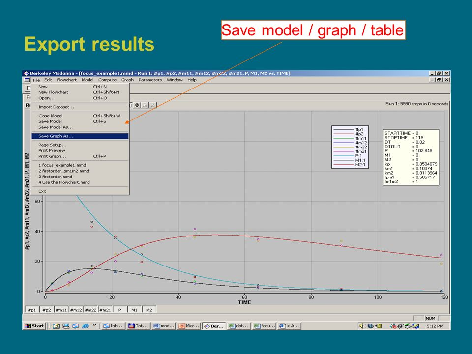 18 Export results Save model / graph / table