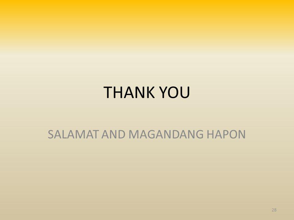 THANK YOU SALAMAT AND MAGANDANG HAPON 28