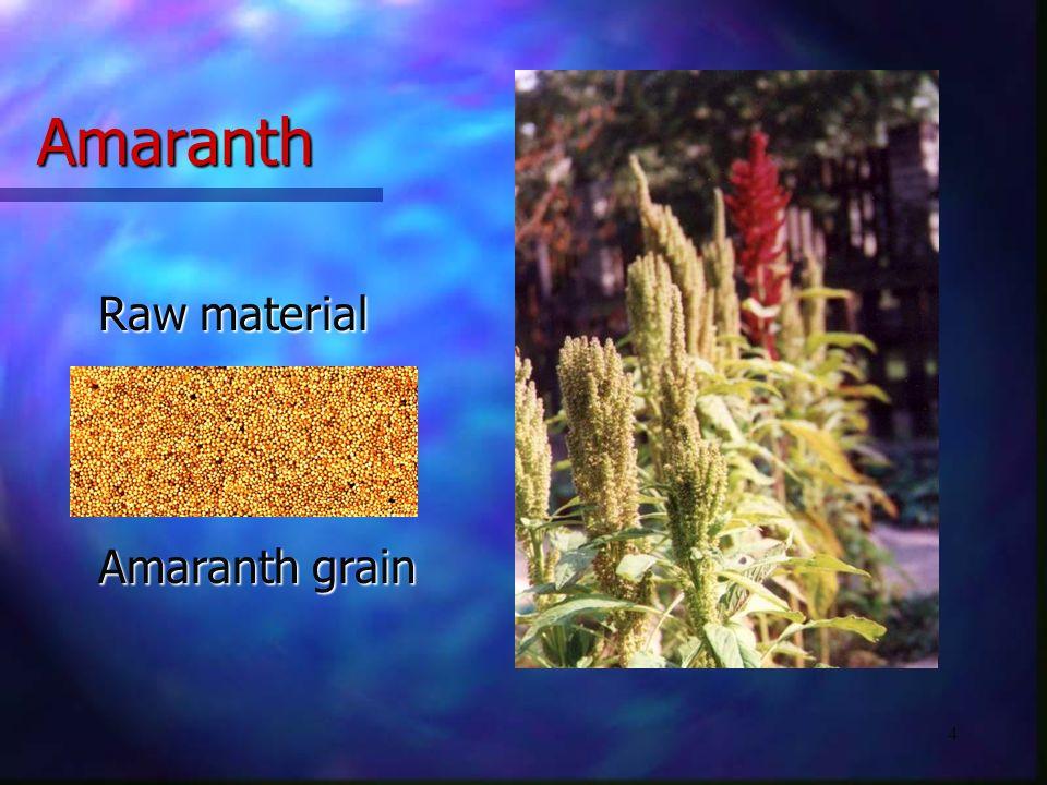 4 Amaranth Amaranth grain Raw material