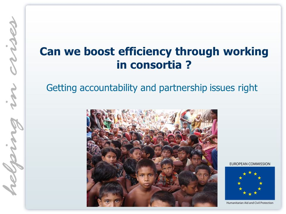 Can we boost efficiency through working in consortia .