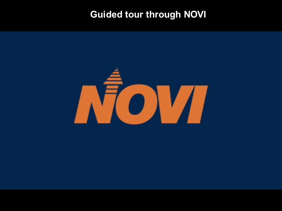 Guided tour through NOVI