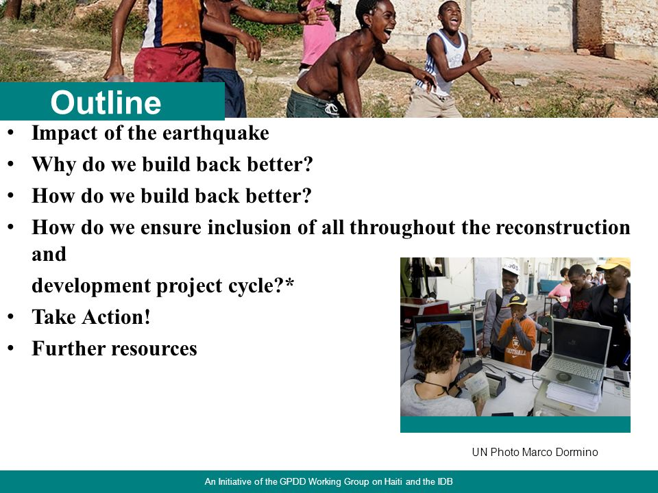 2 Impact of the earthquake Why do we build back better.
