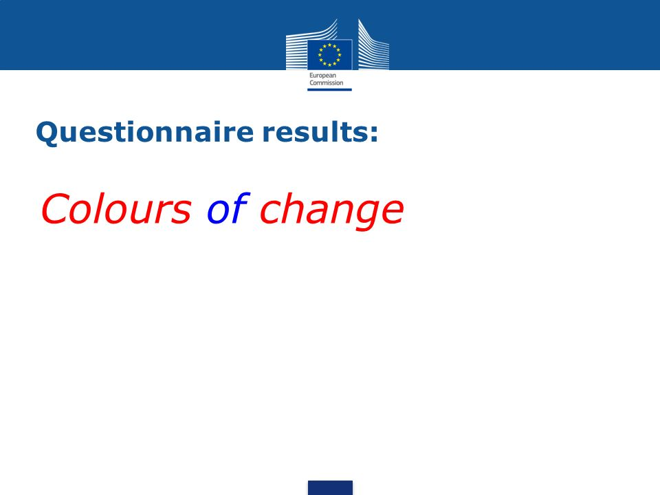 Questionnaire results: Colours of change