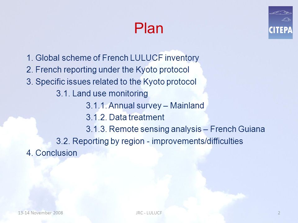 3.1.1. LUCF matrix from 2003 to 2004 13-14 November 200813JRC - LULUCF