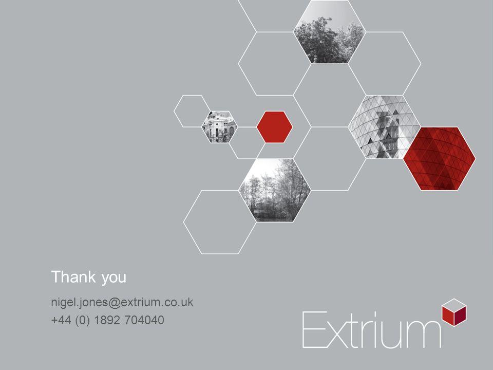 Thank you nigel.jones@extrium.co.uk +44 (0) 1892 704040