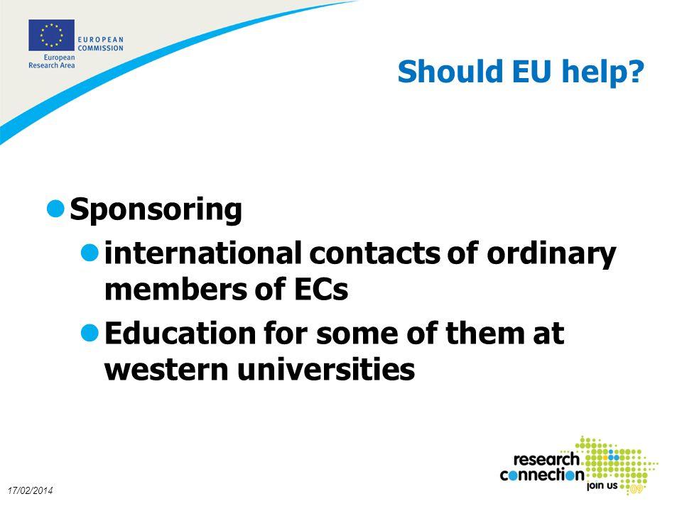17 17/02/2014 Should EU help.