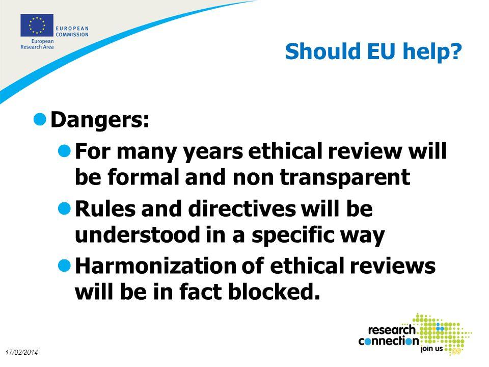 18 17/02/2014 Should EU help.