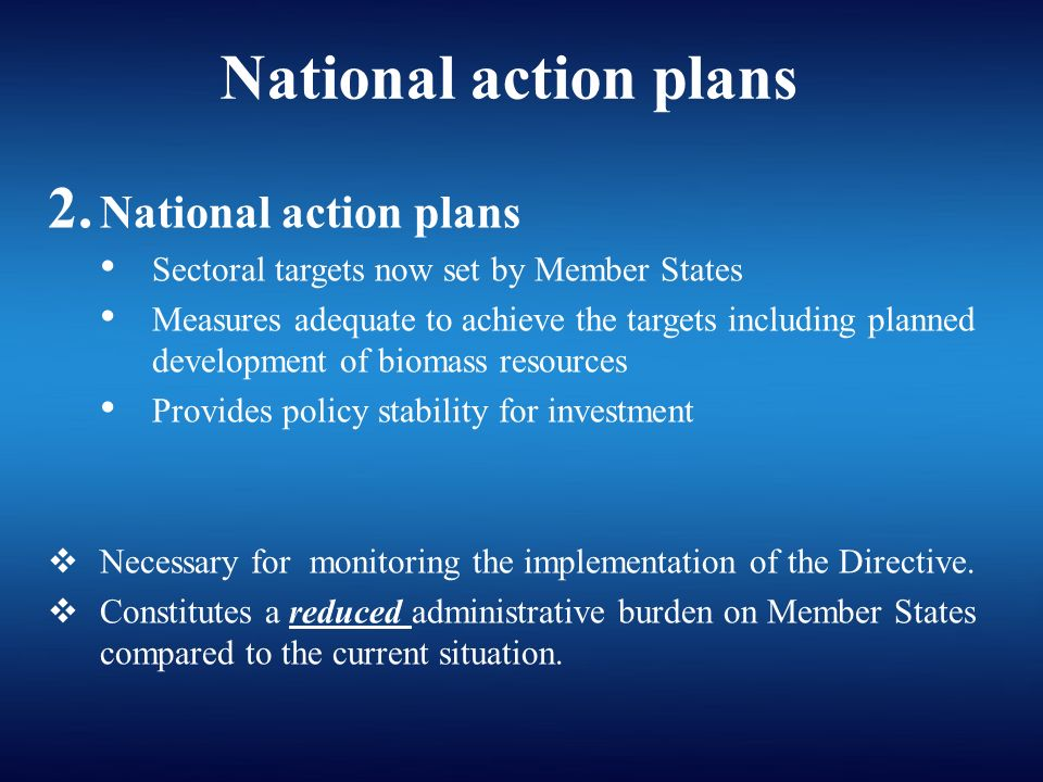 National action plans 2.