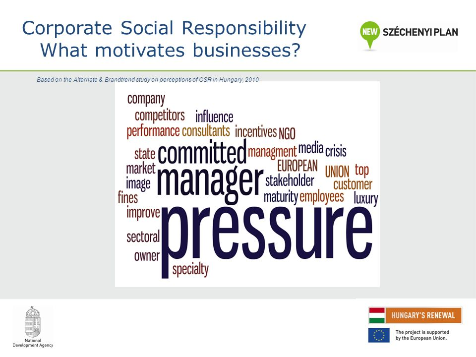 Corporate Social Responsibility What motivates businesses.