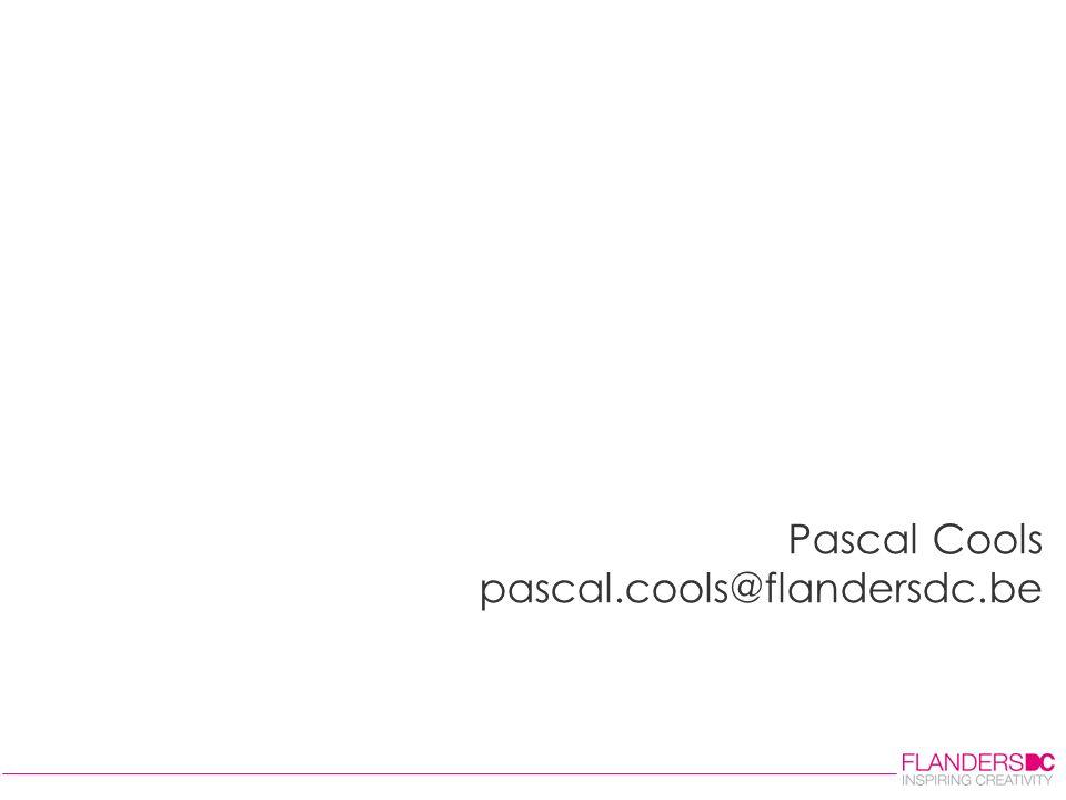 Pascal Cools pascal.cools@flandersdc.be