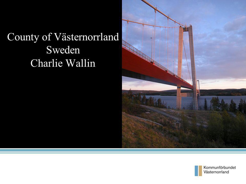 County of Västernorrland Sweden Charlie Wallin