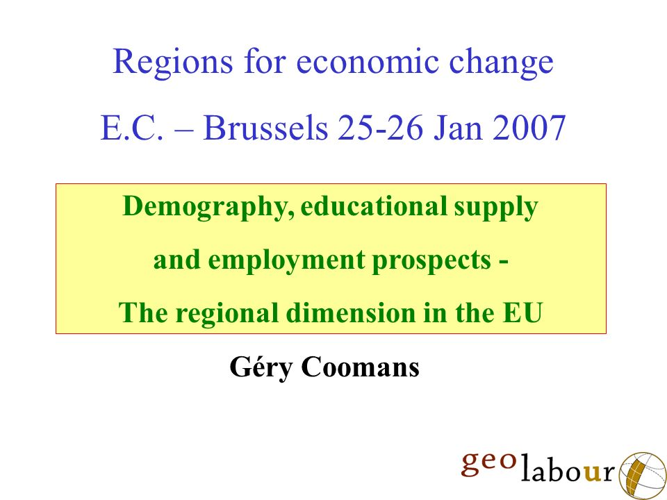 Regions for economic change E.C.